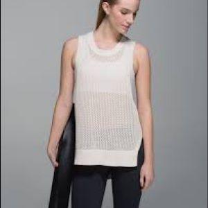 Lululemon Sweater Vest in Cream Blush